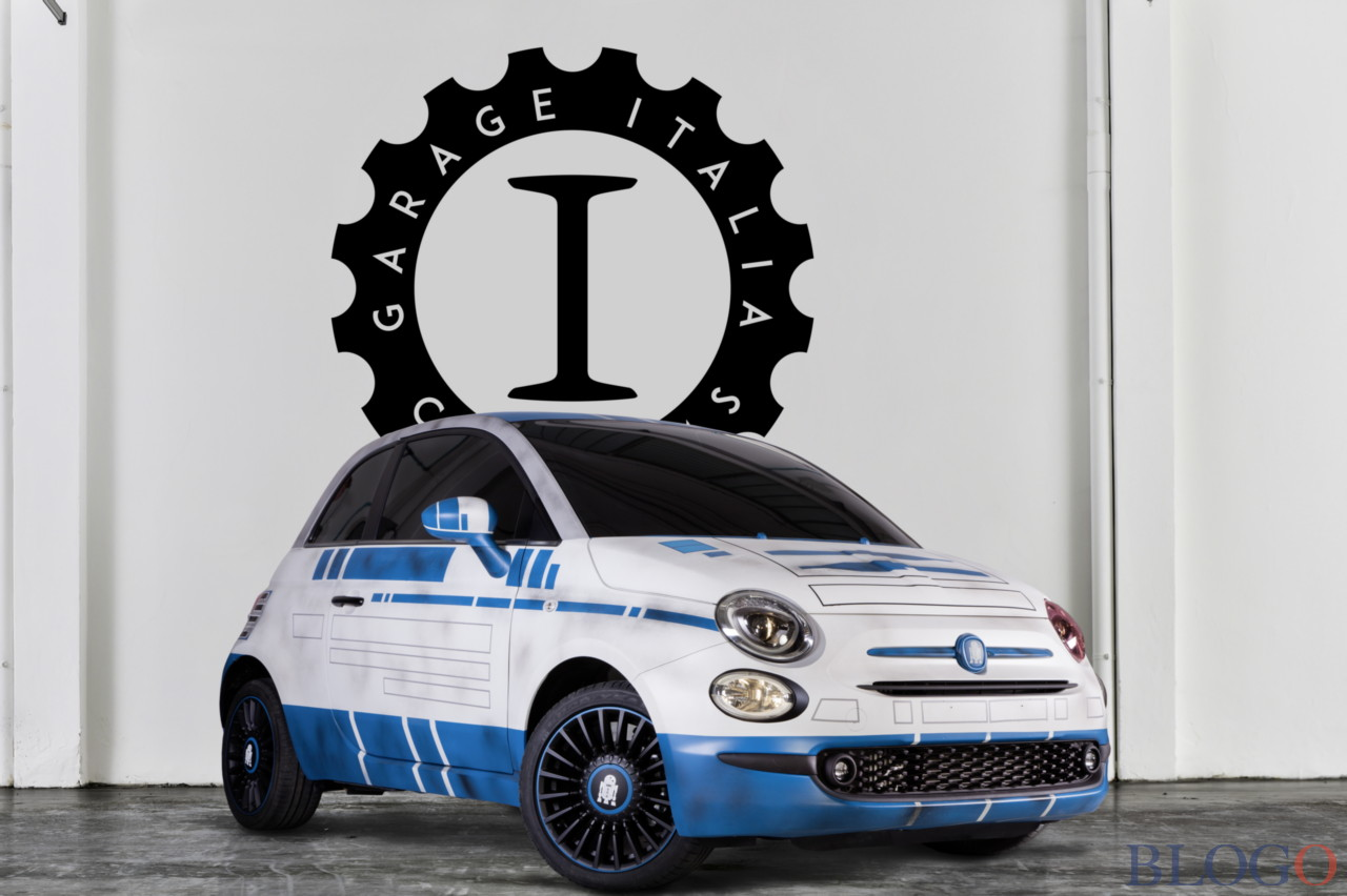 Garage italia customs fiat 500 bb 8 e fiat 500 r2 d2 star wars for Garage fiat 500