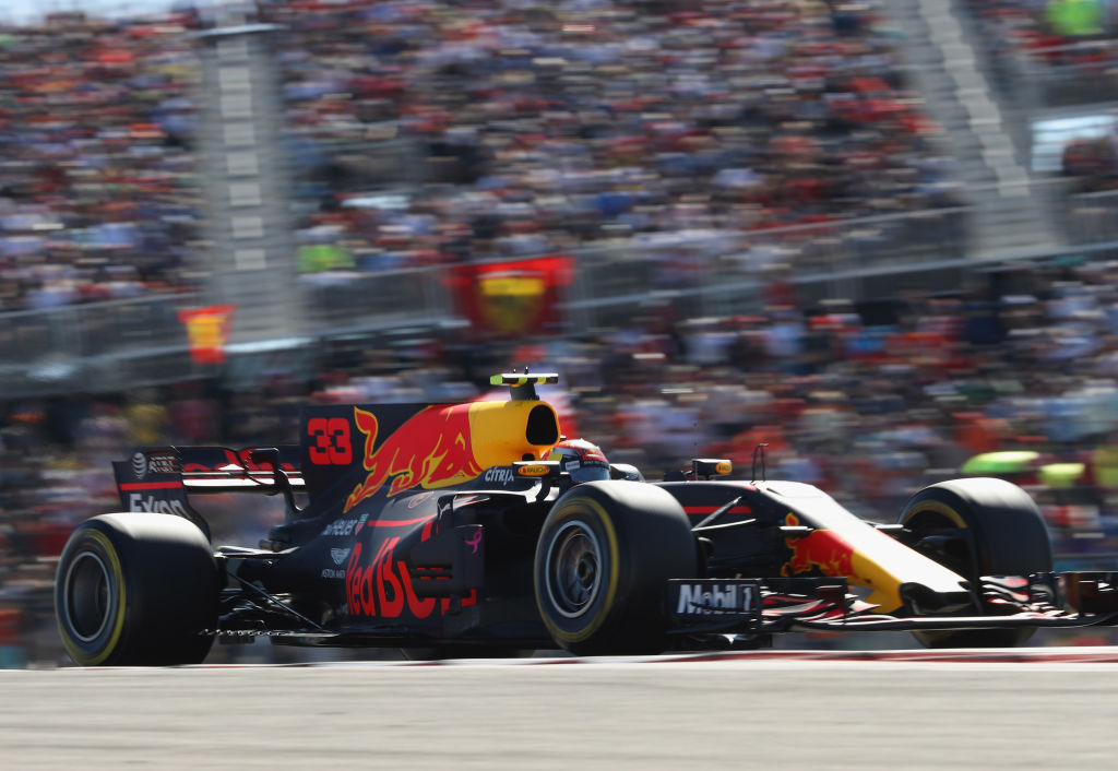 during the United States Formula One Grand Prix at Circuit of The Americas on October 22, 2017 in Austin, Texas.