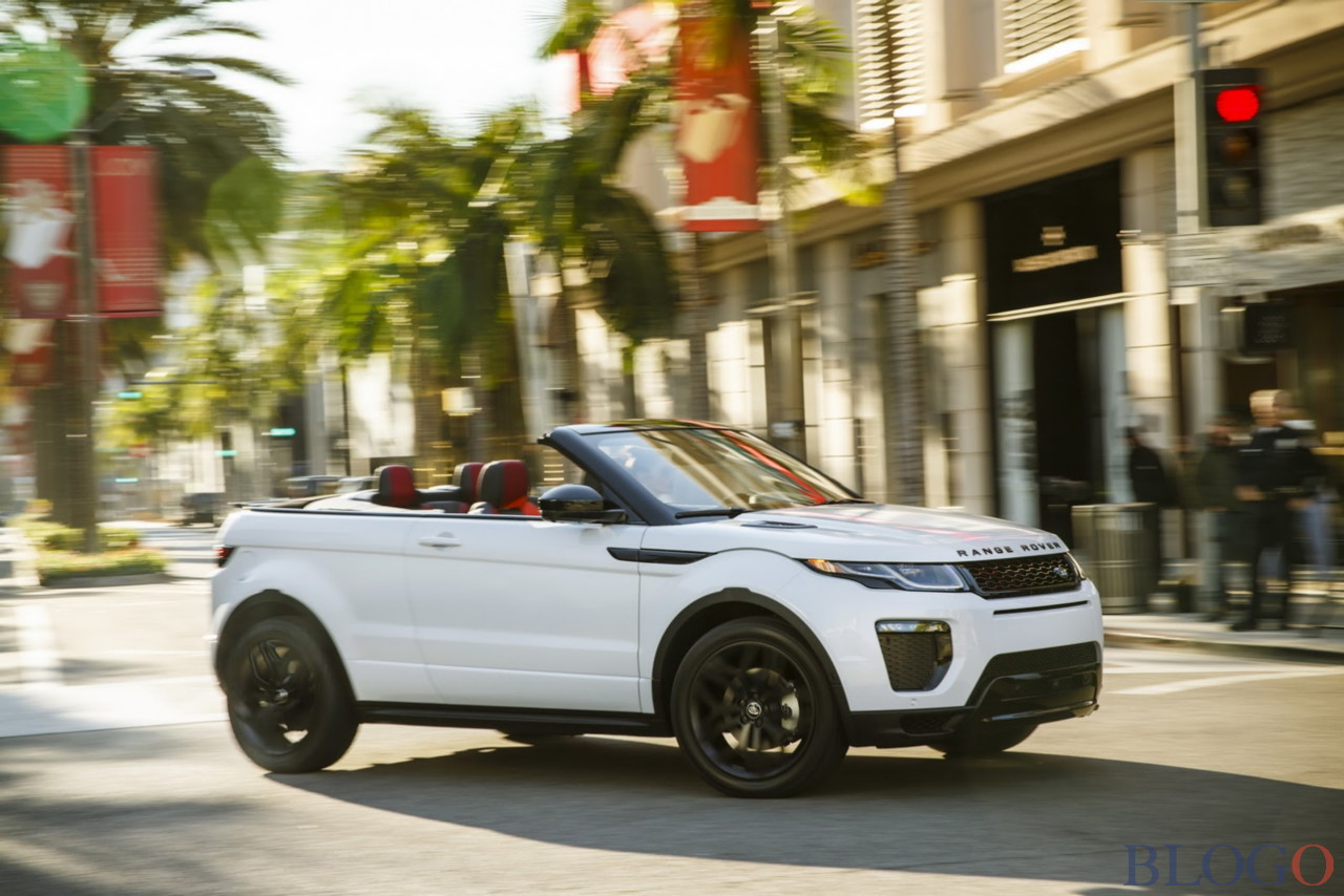 range rover evoque cabrio nuove foto ufficiali. Black Bedroom Furniture Sets. Home Design Ideas