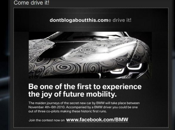 BMW Dontblogaboutthis