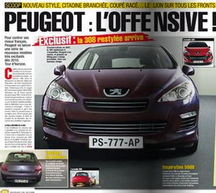 Peugeot 308 restyling 2010
