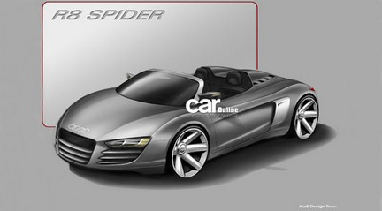 Audi R8 Spyder: rendering ufficiale