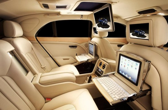 Bentley Mulsanne Theatre e iPad Specifications - Salone di Ginevra 2012