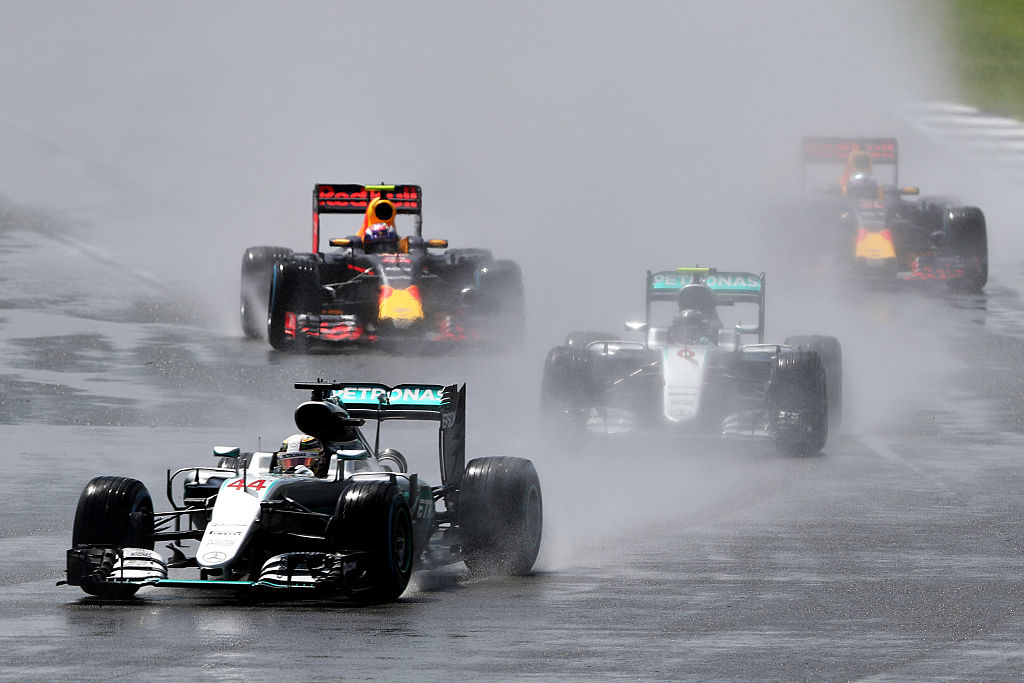 during the Formula One Grand Prix of Great Britain at Silverstone on July 10, 2016 in Northampton, England.