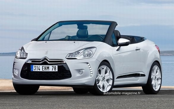citroen ds3 prima ricostruzione grafica della cabriolet. Black Bedroom Furniture Sets. Home Design Ideas