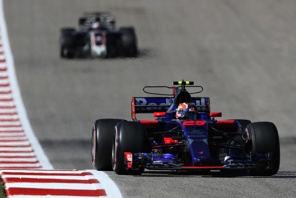 AUSTIN, TX - OCTOBER 22: Daniil Kvyat of Russia driving the (26) Scuderia Toro Rosso STR12 on track during the United States Formula One Grand Prix at Circuit of The Americas on October 22, 2017 in Austin, Texas.  (Photo by Mark Thompson/Getty Images)