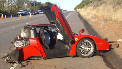 Ferrari Enzo Crash - Malibu