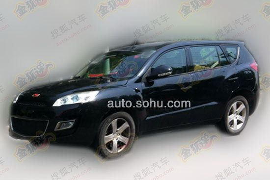 foto spia Geely EX8 restyling