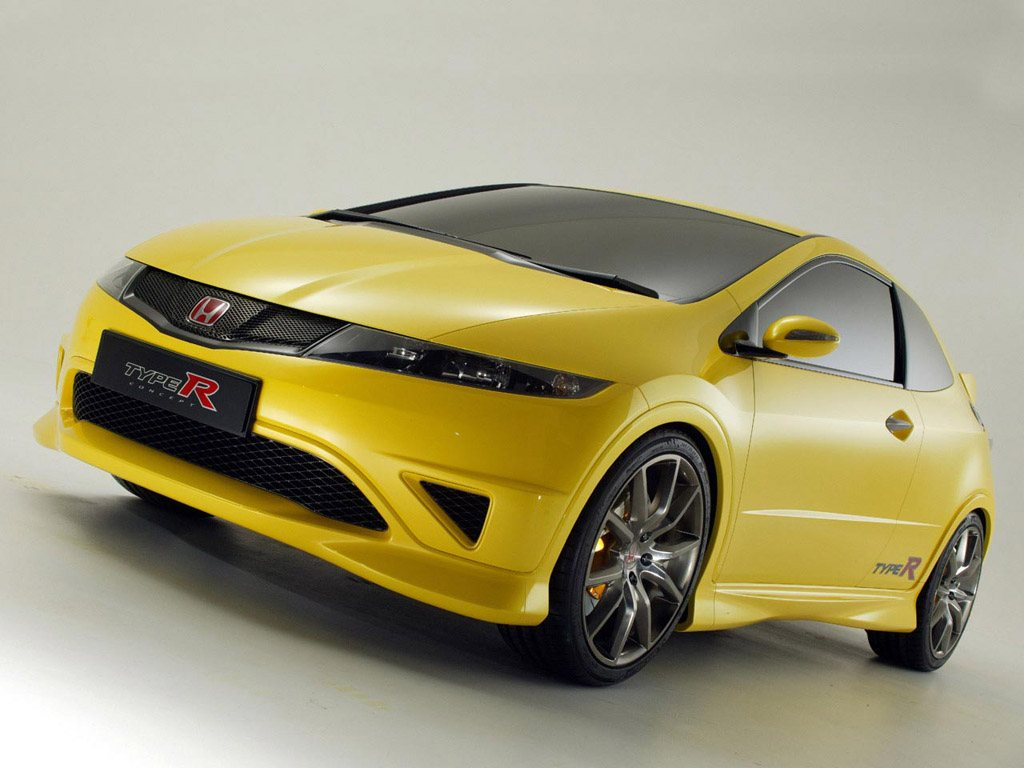 honda civic type r concept nuove foto. Black Bedroom Furniture Sets. Home Design Ideas