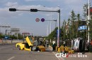 Incidente in Cina a Lamborghini Murcielago