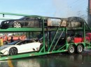 Supercar in fiamme