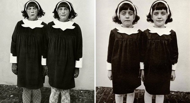 Diane Arbus : Identical Twins, Roselle, New Jersey (1967) - Sandro Miller 2014