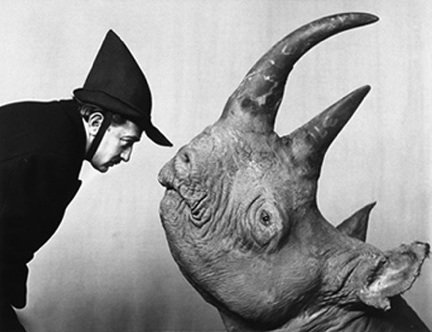 Philippe_Halsman_Salvador_Dali_and_the_Rhino_1956_Staley-Wise_Gallery