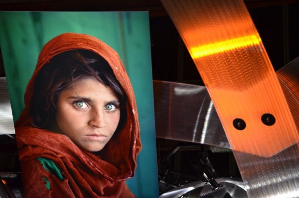 Afghan Girl Steve McCurry a Roma by RondoneR