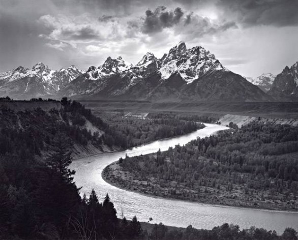 The Tetons and the Snake River, Grand Teton National Park, Wyoming, 1942, photograph by Ansel Adams. © Ansel Adams Publishing Rights Trust