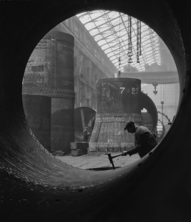 Rotary Kilns Under Construction in the Boiler Shop, Vickers-Armstrongs Steel Foundry, Tyneside,1928, England Modern Digital Print © E.O. Hoppé Estate Collection : Curatorial Assistance