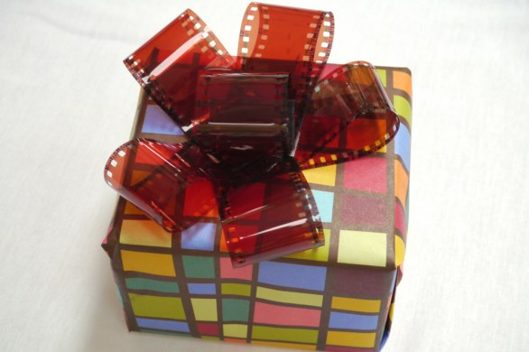 Craft 35mm Film Bows for Holiday Gifts