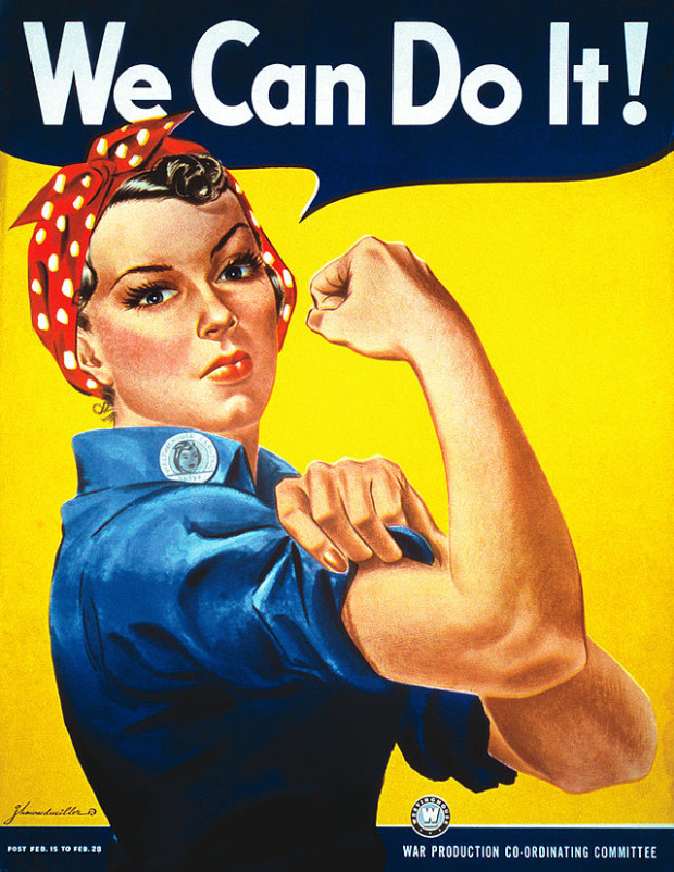 We can do it!, poster di J Howard Miller del 1943 ispirato a Rosie the Riveter