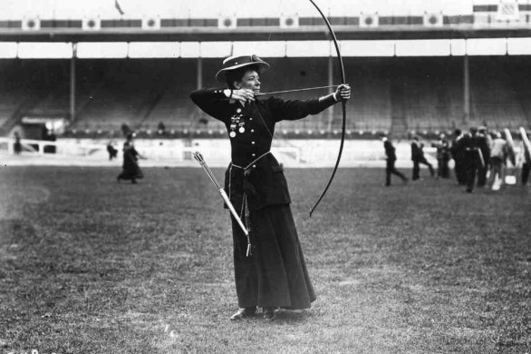 Beatrice Hill-Lowe was the bronze medal winner in women's archery - Topical Press Agency/Getty Images