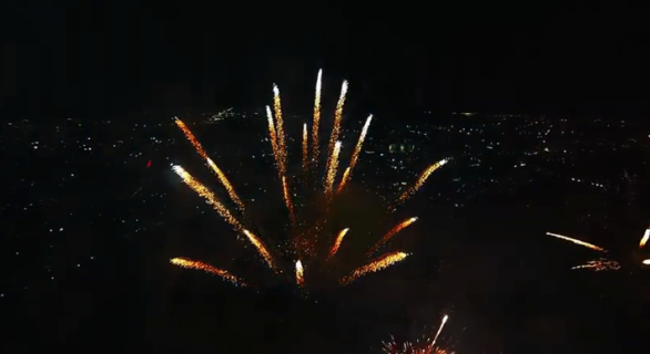 Flying A Drone Into Exploding Fireworks - screenshot video YouTube