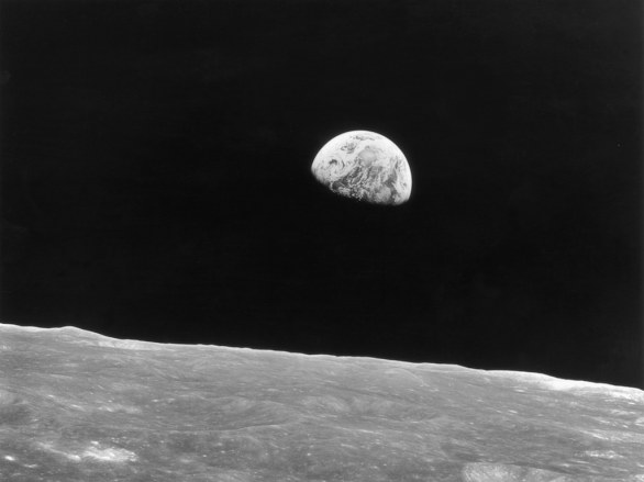 Earthrise - missione Apollo 8, dic 1968 (Keystone/Hulton Archive/Getty Images)