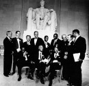 Martin Luther King cinquant'anni dopo, leader al Lincoln Memorial, foto by by National Archive/Newsmakers.