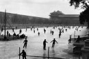Skating in front of the Forbidden City, China, 1957 © Marc Riboud, courtesy Peter Fetterman Gallery