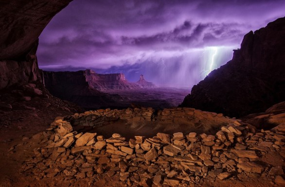 02 - 2 postp, Thunderstorm at False Kiva by Max Seigal/National Geographic Traveler Photo Contest