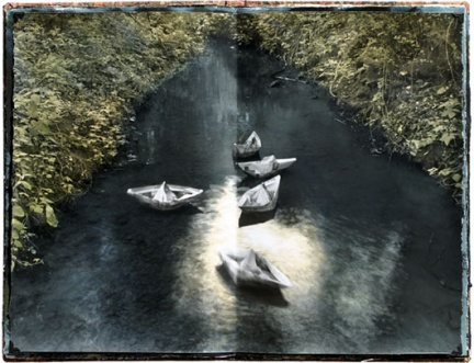 Paper Boats, open book 08 © Brian Taylor