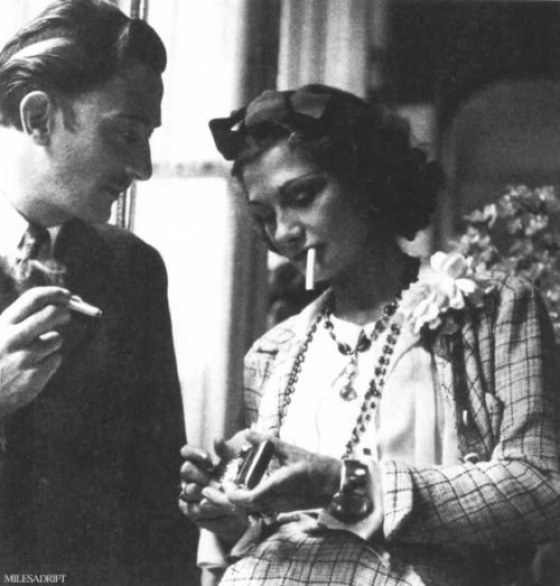 Salvador Dali and Coco Chanel on Awesome People Hanging Out Together