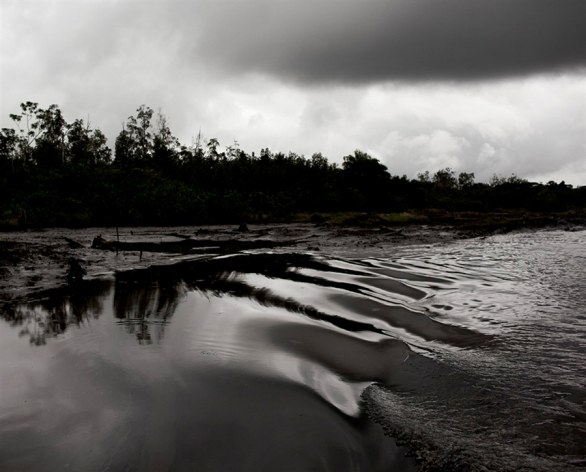 Nigeria. May 2010 - Water polluted by oil, Niger Delta © Christian Lutz / Agence VU via HOST Gallery