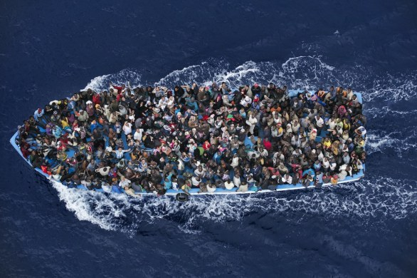 Second Prize General News Category, Single - Massimo Sestini, Italy, 7 June, off the coast of Libya