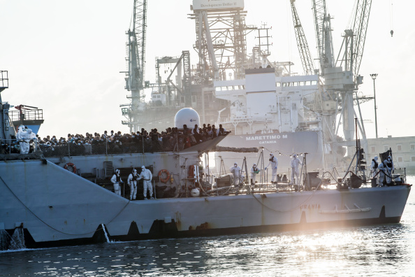 More than 500 migrants arrived in Palermo, Italy aboard the