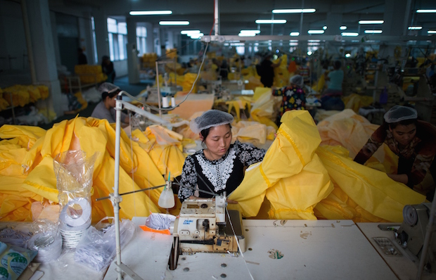 HEALTH-EBOLA-MANUFACTURING-CHINA