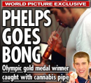 Michael Phelps: hits from the bong
