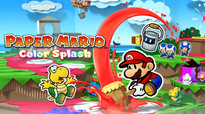 Paper mario color splash e3 2016 trailer di for What color is mario