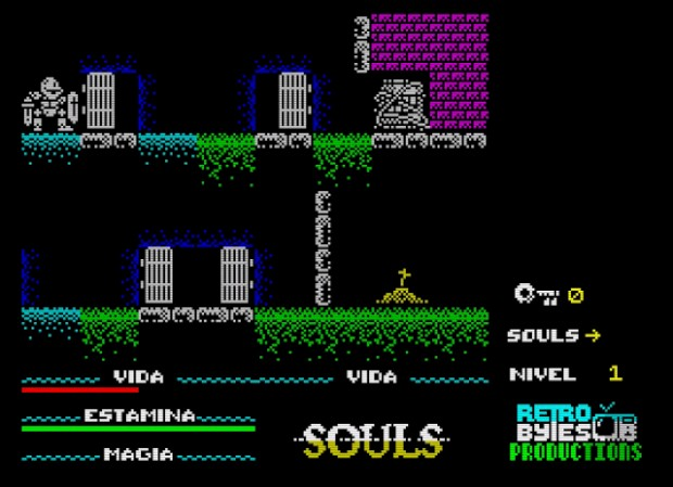 Dark Souls rifatto su Spectrum