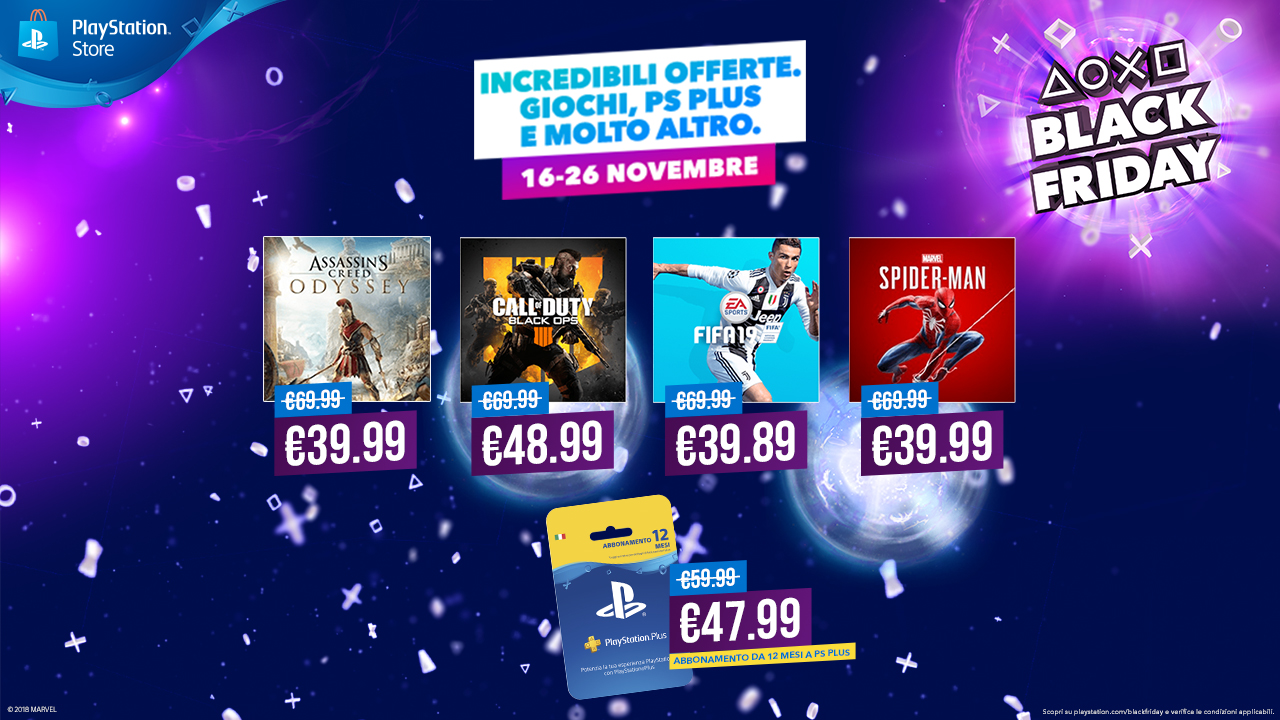 Black Friday | PlayStation Store | sconti PS4 | offerte