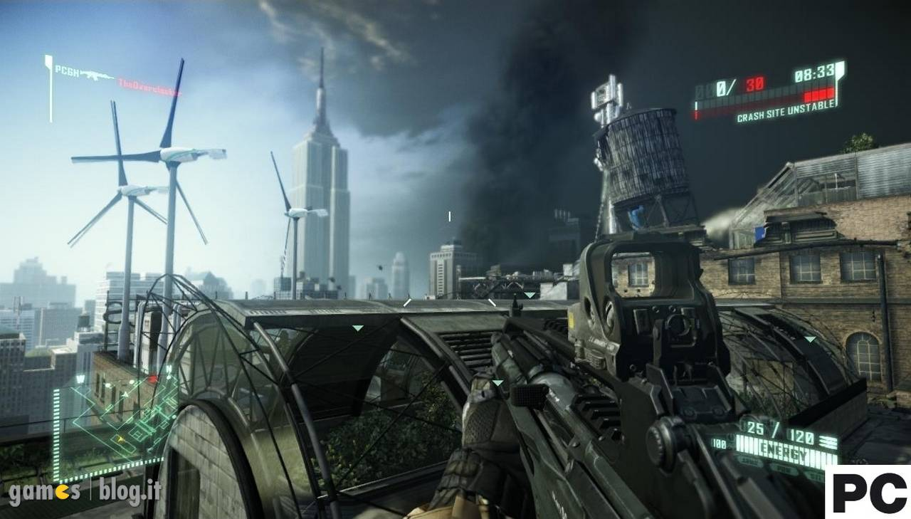 Crysis 2: demo multiplayer - comparativa PS3-X360-PC