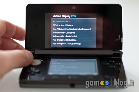 Datel Action Replay 3DS/DSi/DS: immagini