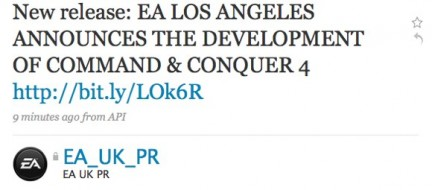 Command & Conquer 4 accidentalmente(?) rivelato su Twitter