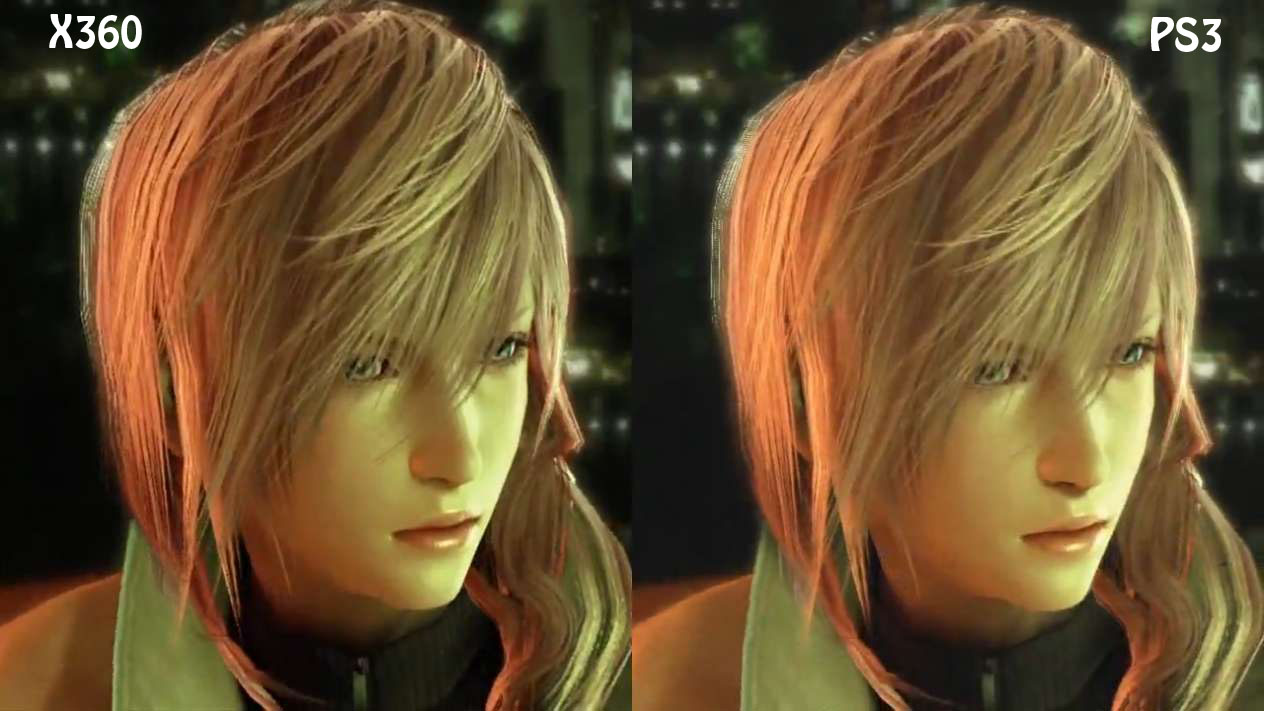 Final Fantasy XIII: comparativa X360-PS3