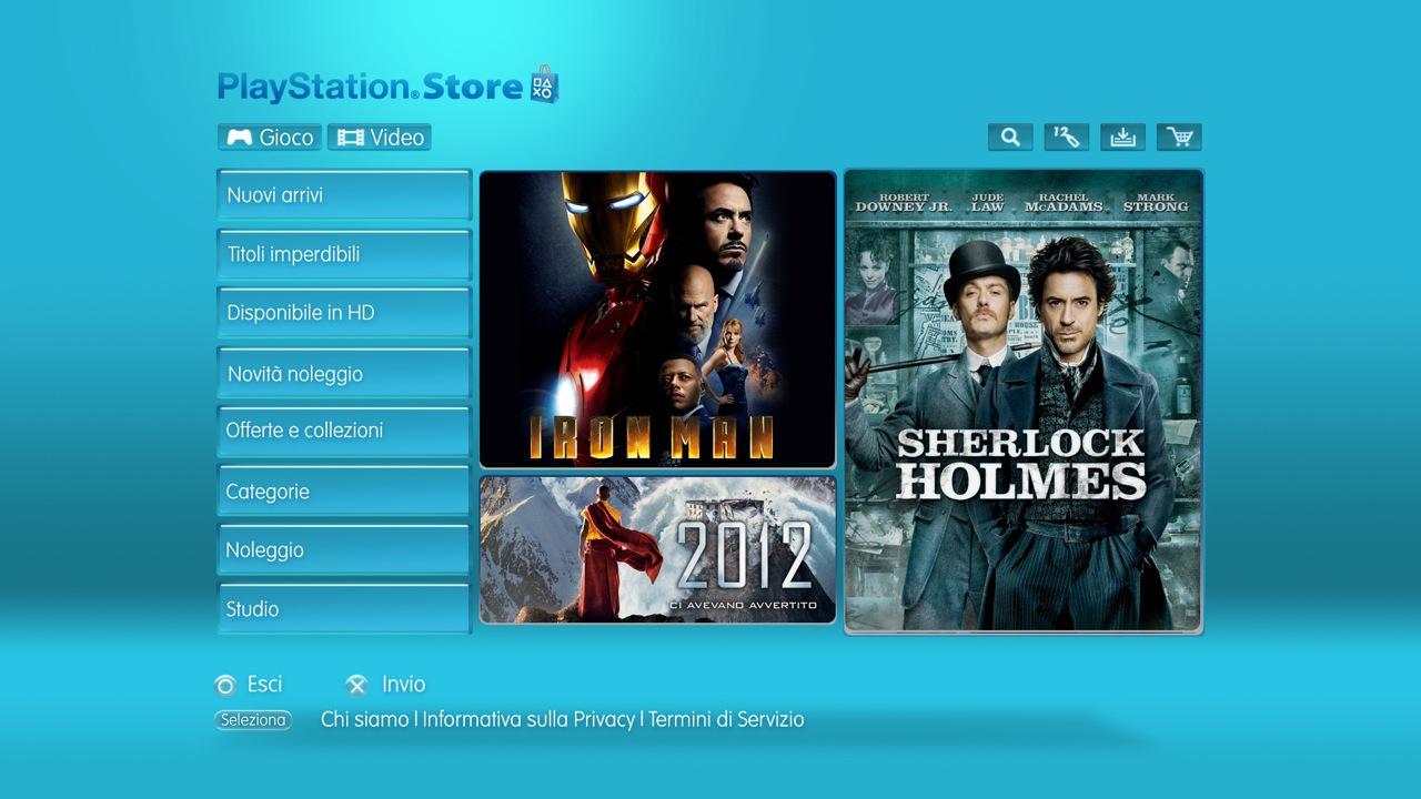 PlayStation Video Store: immagini