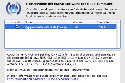 Mac OS X 10.5 Java Update 4