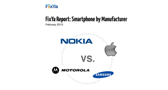 Rapport FixYa: Apple vs Samsung vs Motorola vs Nokia