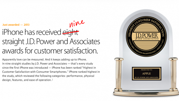 9 J.D. Power and Associates Awards per Apple