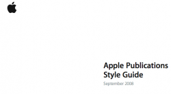 disponibile Apple Pubblications Style Guide 2008