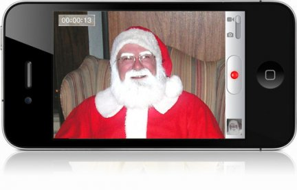 Babbo Natale nell'iPhone 4