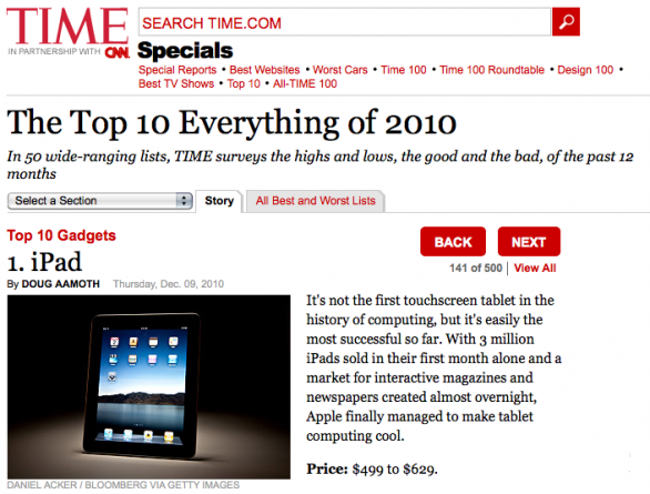 Top 10 Time 2010