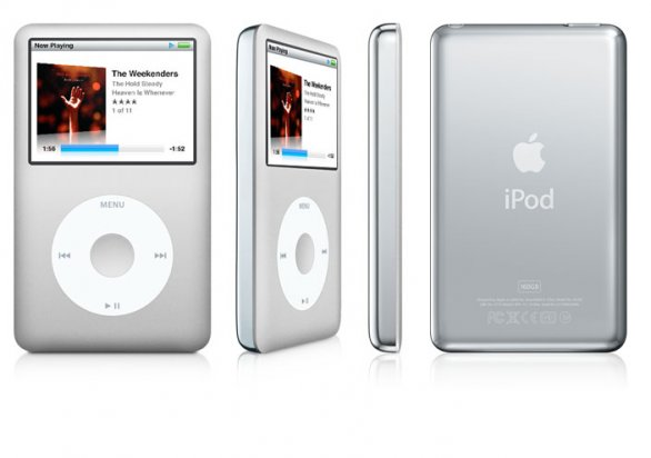 iPod classic 6G argento